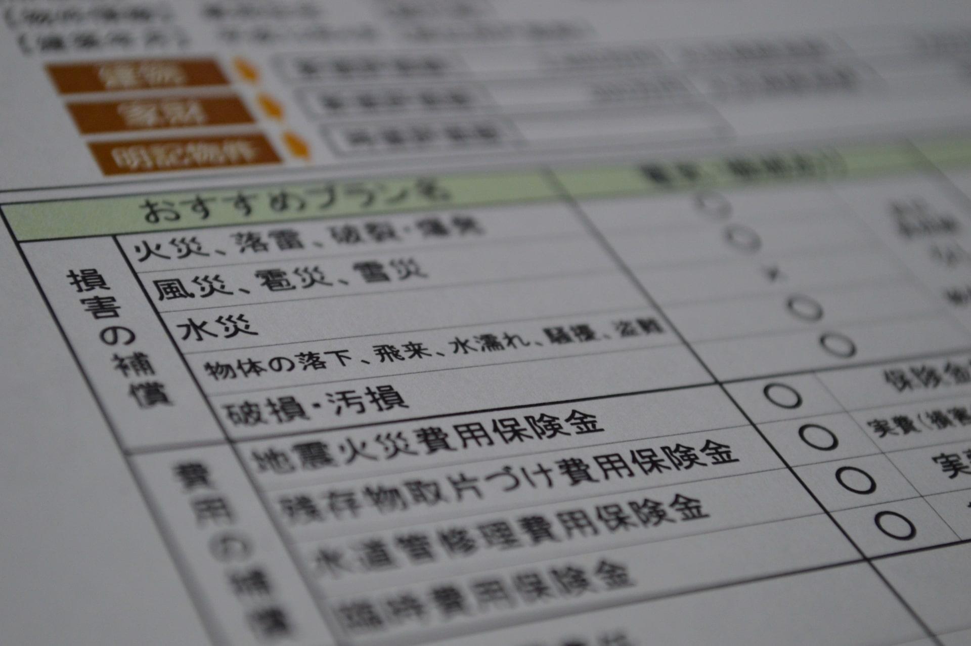火災保険【火災保険の種類】