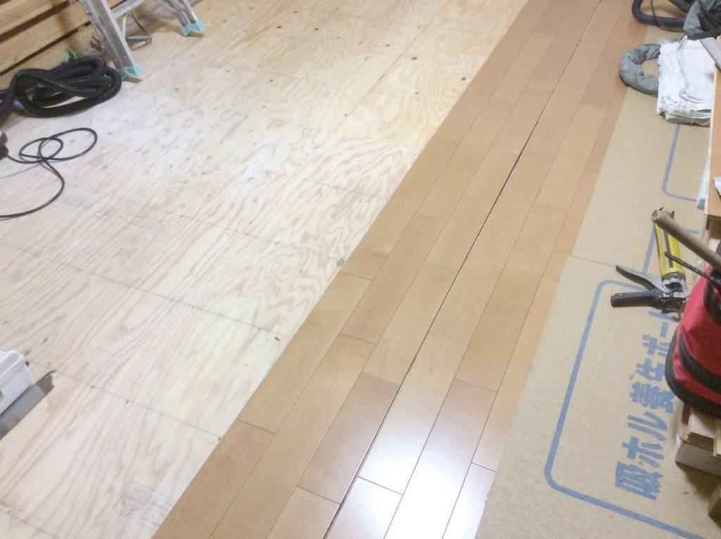 【内装リフォーム】床板張替え工事